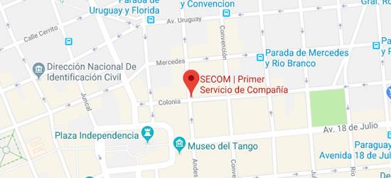 mapa secom servicios de compañia